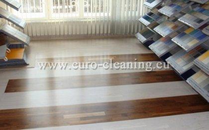 Почистване на офиси - Полиране на пода в офис