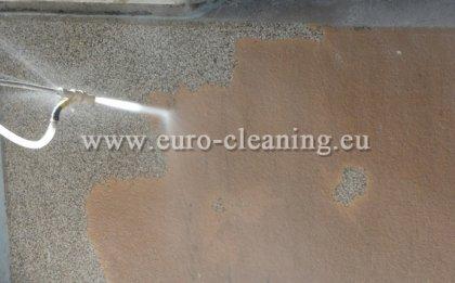 Пясъкоструене на боядисана мозайка - Пясъкоструене