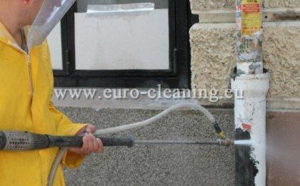 Пясъкоструене на боядисана мозайка - Пясъкоструене - премахване на боя