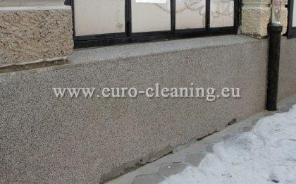 Пясъкоструене на боядисана мозайка - Пясъкоструене - почистена мозайка