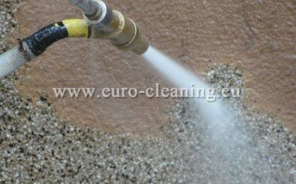 Пясъкоструене на боядисана мозайка - Пясъкоструене - отстраняване на боя