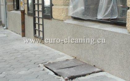 Пясъкоструене на боядисана мозайка - Почистена мозайка чрез пясъкоструене