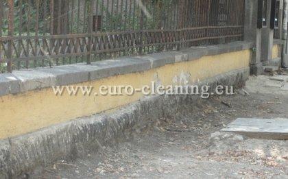 Почистване на ограда - пясъкоструене