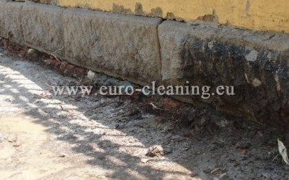Почистване на ограда на съюза на архитектите - Пясъкоструенето прави разлика