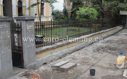 Почистване на ограда на съюза на архитектите - Ограда след пясъкоструене